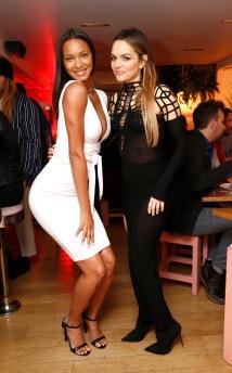 Maria Hatzistefanis and Brad Goreski Host Rodial VIP Dinner, New York, Pietro Nolita, Burberry boots, style, outfit, Demobaza cut-out dress, Lais Ribiero, Victoria Secrets Angel