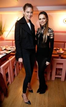 Maria Hatzistefanis and Brad Goreski Host Rodial VIP Dinner, New York, Pietro Nolita, Burberry boots, style, outfit, Demobaza cut-out dress, Martha Hunt, Victoria Secrets Angel