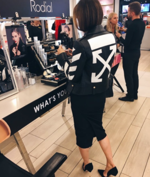 Maria Hatzistefanis - Mrs Rodial - Selfridges Oxford Street pop up - London - Off White Jacket