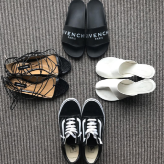 Maria Hatzistefanis - Mrs Rodial - Shoe Options - New York - Vans - Celine - Givenchy